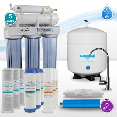 5 Stage Reverse Osmosis System with 12 Water Filters