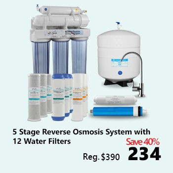 5-stage Reverse Osmosis System with 12 Water Filters