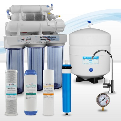 9-stage Reverse Osmosis System with 4-in-1 Bio Ceramic, Far Infrared Mix Re-mineralization Water Filter