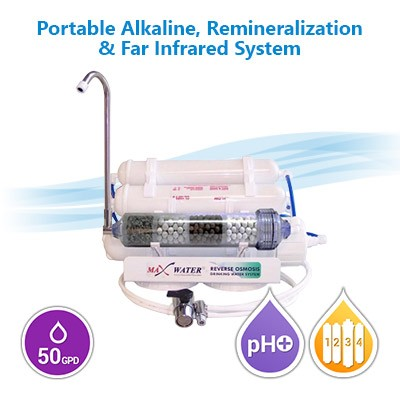 7 Stage Portable Alkaline/Remineralization/Far Infrared Reverse Osmosis Water Filter