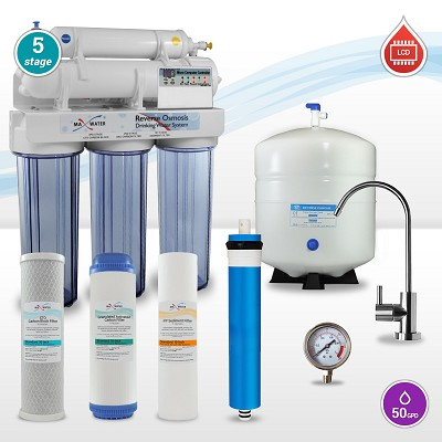 5 stage Dentist/Dental Autoclave Water Filter System  LCD Reverse Osmosis System - Full Function Controller