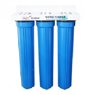 "3 Stage 20"" x 2.5"" Whole house water filter, Sediment Carbon GAC CTO"