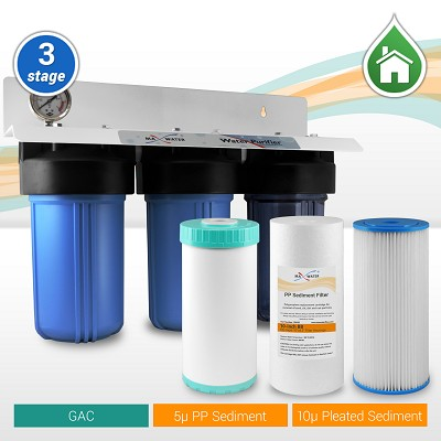 "3-stage 10""  Big Blue Water Filter - ¾"" or 1"" NPT Ports"