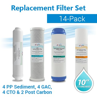Reverse Osmosis Standard Pre and Post Filters (14 Filters)