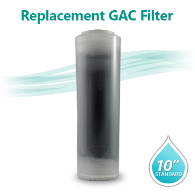 "OCB Clear Filter - GAC T33 Coconut Shell Carbon Filter size 10""x2.5"""