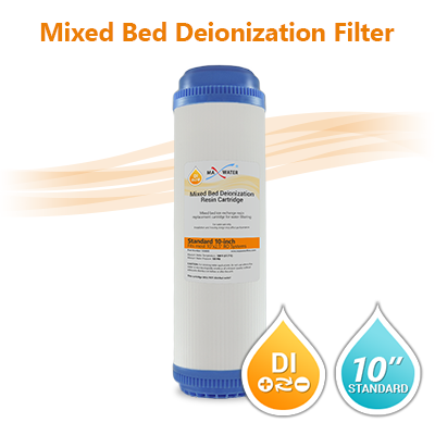 "DI Mixed Bed Water Filter, Size 10""x2.5"""