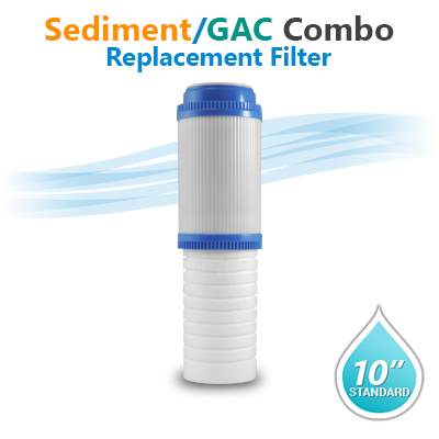 "10"" Sediment + GAC Two in one filter"