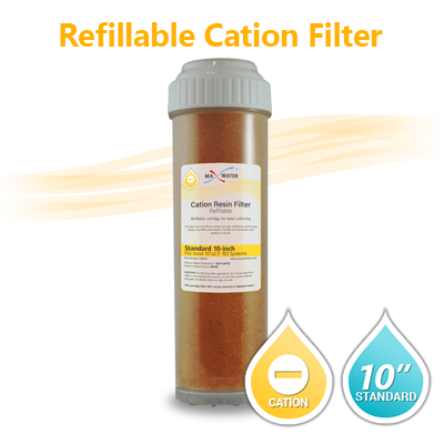 Cation resin filter cartridge (refillable)