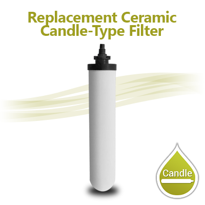 "Candle Type Ceramic Filter 0.7-0.9 micron Filter Size 10""x2"""