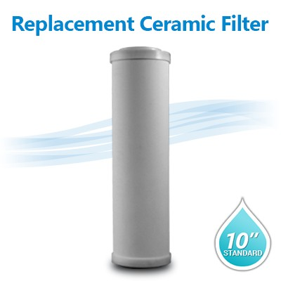 "DOE Ceramic Filter 0.8 - 0.3 micron Filter Size 10""x2.5"""