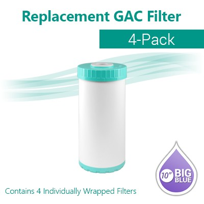 "4 x GAC T33 Coconut Shell Carbon Filter size 10""x4.5"" whole house water filter"