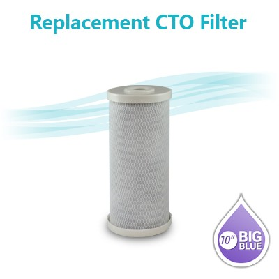"CTO Carbon Block Filter size 10""x4.5"""