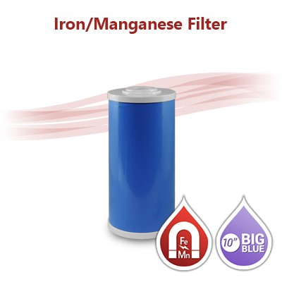 "Iron / Manganese Water Filter Big Blue size 10""x4.5"""