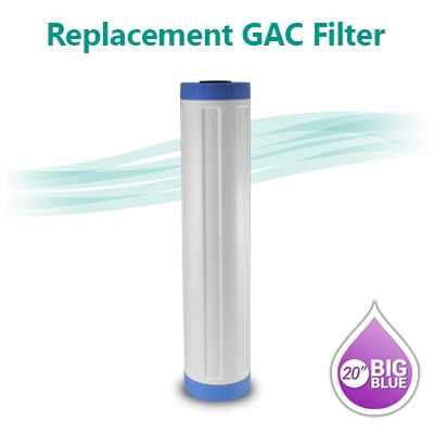 "Big Blue Granular Activated Carbon (GAC) Water Filter - size 20""x4.5"""