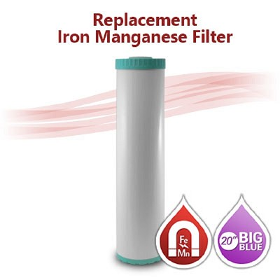 "Big Blue Iron/Manganese Water Filter - size 20""x4.5"""