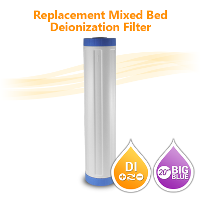 "Mixed Bed De-Ionization Water Filter size 20""x4.5"""