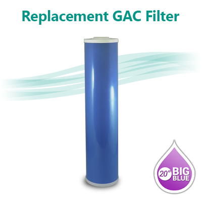 "GAC 20B Coconut shell Granular Activated Carbon Water filter size 20""x4.5"""