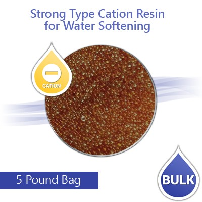 Strong Cation Resin for Hardness Reduction and Water Softening - 5 lbs Bulk