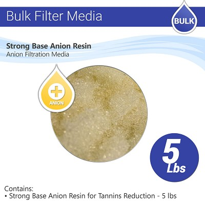 Anion Resin for Tannin Reduction - 5 lbs