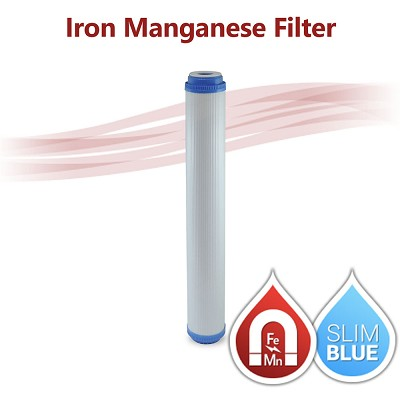 "Iron / Manganese Water Filter Big Blue size 20""x2.5"""