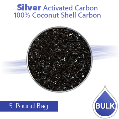 Silver Activated Carbon for Air/Water Filters - 100% Coconut Shell Carbon - 5 Lbs