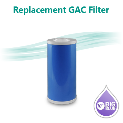 "Blue GAC UDF T33 Granular Activated Carbon Filter size 10""x4.5"""
