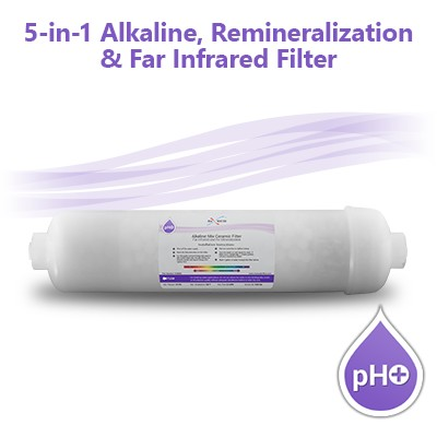 5-in-1 pH+ Alkaline/Far Infrared/Remineralization Filter (Non-refillable)