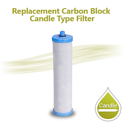 "Carbon Block Filter, Size 10""x2"" - Candle Type"
