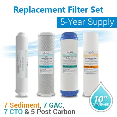 Reverse Osmosis Filter sets for 5 years 7 changes