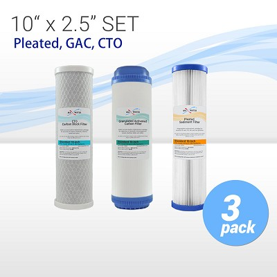 Whole House Replacement Filter Set Pleated Sediment/GAC/CTO