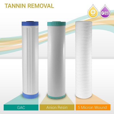 "20"" Big Blue Tannin Reducer Filter Set (3-pack)"