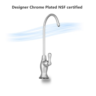 Designer Faucet, Chrome Plated, Lead Free NSF certified ceramic stem.