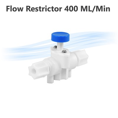 Flow Restrictor 400 ML/Min with Build in Push Option Flush by Pass
