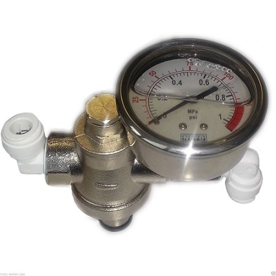 Chrome steel ro water system & air pressure regulator 0-150 psi + pressure gauge