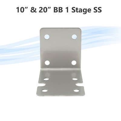 "Stainless Steel Bracket for 1 Stage 10"" & 20""  Big Blue whole house water filter housing Single Oring 70 x 77 mm"