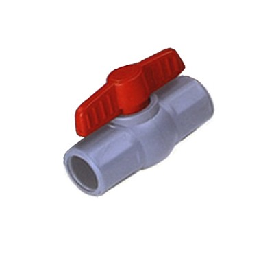 "3/4"" Reinforced heavy duty Grey PVC ball valve"