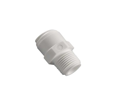 "Male Connector 1/4"" Tube O.D x 1/2"" MIP"
