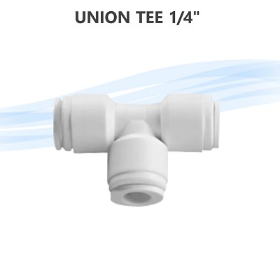 "Union Tee 1/4"" Fitting Connection Reverse Osmosis Water filter Fridge T connector"