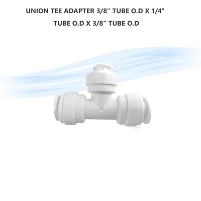 "UNION TEE ADAPTER 3/8"" Tube O.D x 1/4"" Tube O.D x 3/8"" Tube O.D"