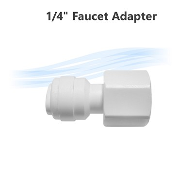 "Reverse Osmosis   7/16"" NPTF x 1/4"" tube O.D Faucet Female inlet Thread Adapter"
