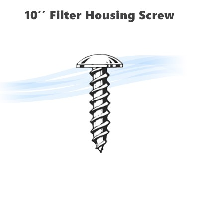 "10"" reverse osmosis filter housing screws."