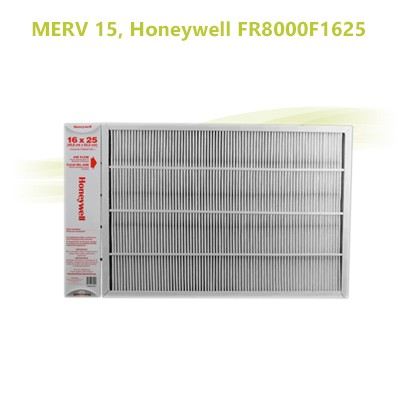 "Honeywell FR8000F1625  -  Air Filter 16"" x 25"" MERV 15"