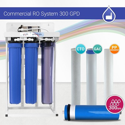 300 gpd commercial reverse osmosis water system