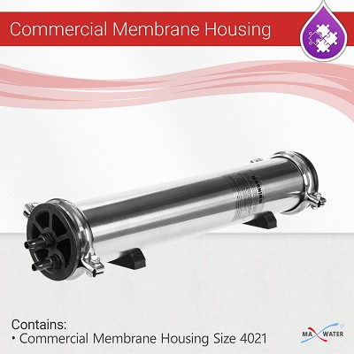 4021 Stainless Steel Reverse Osmosis Commercial Membrane Housing