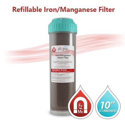"10"" Standard Whole House Iron/Manganese Filter (Refillable)"