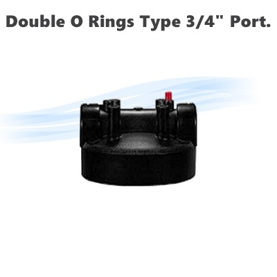 "Replacement head for 10"" & 20"" Big Blue housing with Double O Rings type,  3/4"" port."