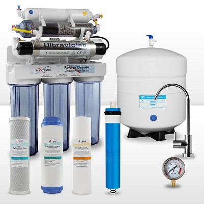 9-stage Alkaline Reverse Osmosis System with UV Sterilizer