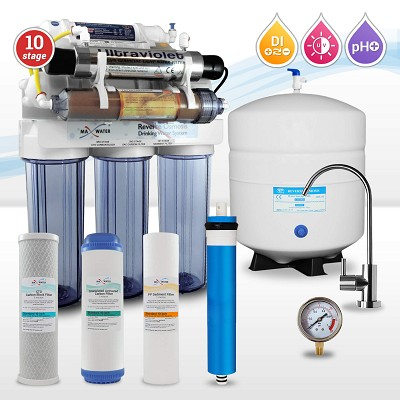 10-stage Alkaline Reverse Osmosis System with Ultraviolet Sterilizer