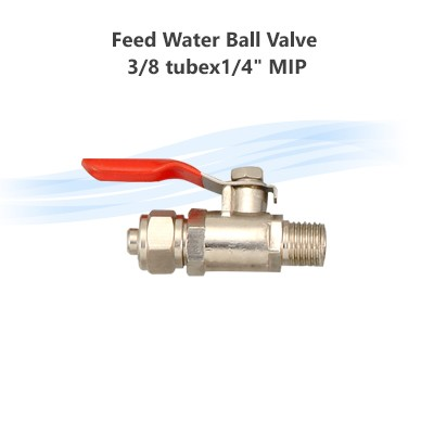 "Feed Water Ball Valve 3/8 tubex1/4"" MIP"
