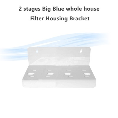 2 Stages Big Blue Whole House Filter Housing Bracket, Fits single O ring housings 70 x 77 mm